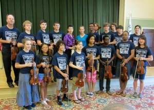 Students from PCM play at Fleet Landing (Photo from 2014)
